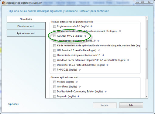 Instalando MVC 2.0