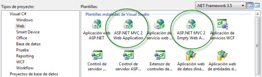 Proyectos ASP.NET MVC 2.0