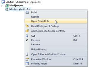 Abriendo el archivo del proyecto