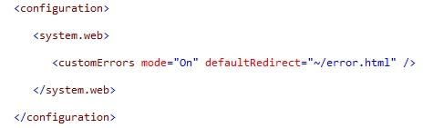 Configuración web.config