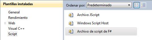 Creando archivo de script
