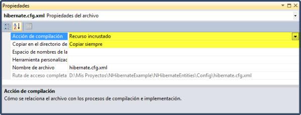 Propiedades XML de configuración