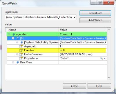 Inspeccionando objetos obtenidos con EF4.1 sin LazyLoad