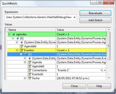 Inspeccionando objetos obtenidos con EF4.1 con LazyLoad