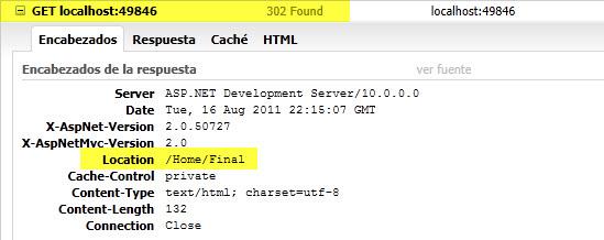 Encabezado de la respuesta HTTP