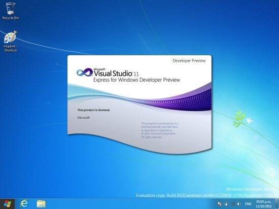 Iniciando Visual Studio 2011 Express