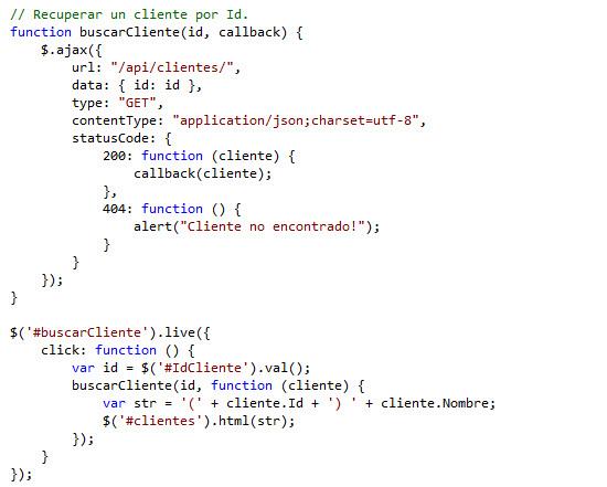 Agregando lógica al script Clientes.js