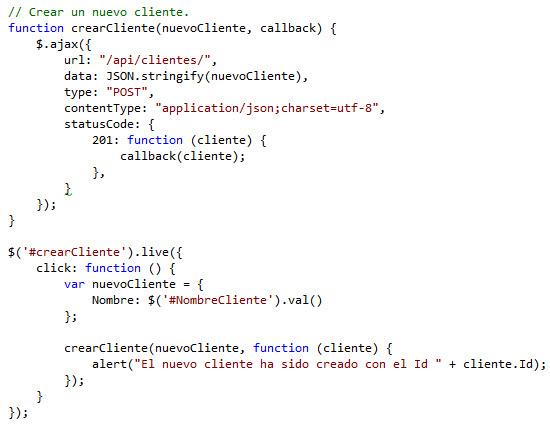 Actualizando el script Clientes.js