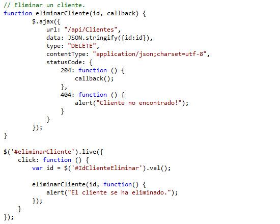 Modificando el script Clientes.js