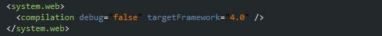 Modificando el modo de compilación