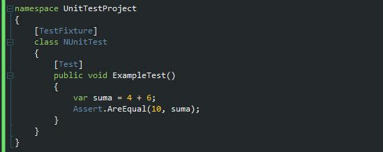 Creando un simple test con Nunit.