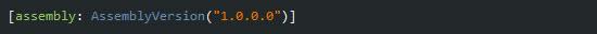 Atributo AssemblyVersion