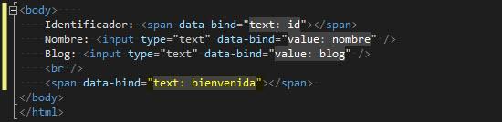 HTML - Creamos un elemento donde enlazar el mensaje.