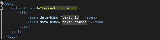HTML - Definiendo los elementos y enlaces para visualizar la lista de personas.