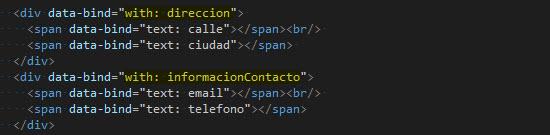 HTML - Declarando control de flujo with.