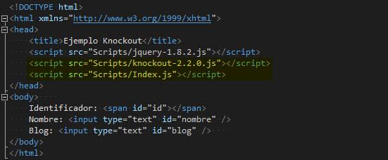HTML -Estructura inicial