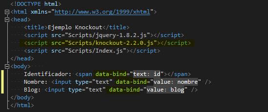 HTML - Bindings declarativos