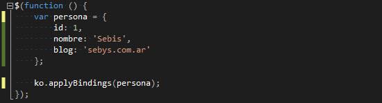 JS - Enlanzado datos con KO.