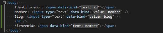 HTML - Agregando elemento span para visualizar nombre.