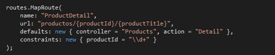Definición utilizando convention-based routing