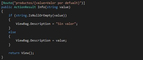 Valor por default